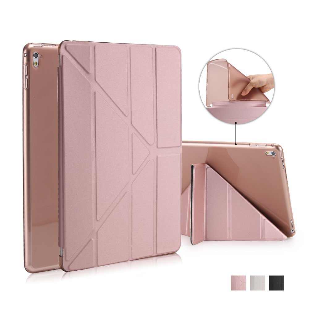 Case For Ipad Pro 9.7 PU Leather Magnetic Smart Case Soft TPU Back 5 Shapes Slim Case For Ipad Pro 9.7 Auto Sleep/Wake