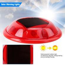 10LED IP68 Водонепроницаемые красные солнечные фонари со штырем для дорожного освещения круглый дорожный путь туннель