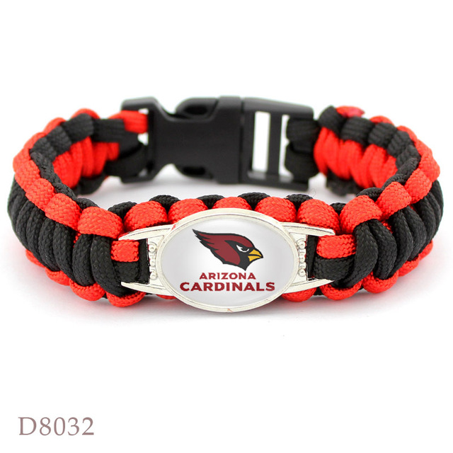 10pcs Arizona Cardinals Bracelet Sport Team Umbrella Braided Football Fans Gift