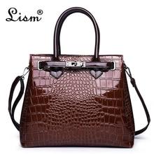 Women's bag luxury high quality classic crocodile pattern ha