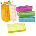 Hard Plastic Battery Storage Box Battery Container 18650 CR123A 16340 Battery Case Holder Box Storage Color Optional Dec12