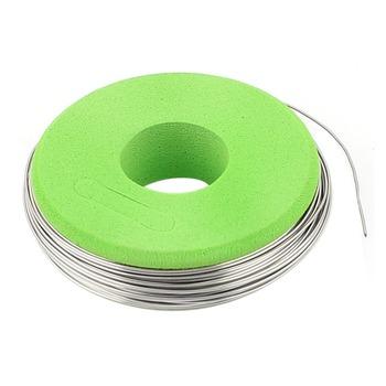 Uxcell gorąca sprzedaż 1 sztuk 7 5m 24 6ft drut z nichromu Dia 0 5mm Cr20Ni80 przewód grzejny 24 Gauge AWG rolka 5 551Ohm m drut oporowy tanie i dobre opinie OTHER Nichrome Heater Wire Stałe Ogrzewanie bare