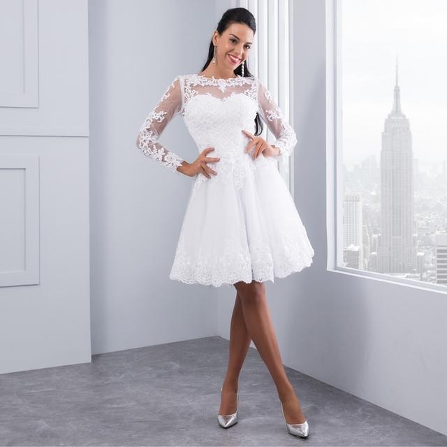 Ball Gown 2 in 1 Wedding Dresses Detachable train Lace Appliques Pearls Bridal Gowns Vestido De Novias Vestidos de Noiva