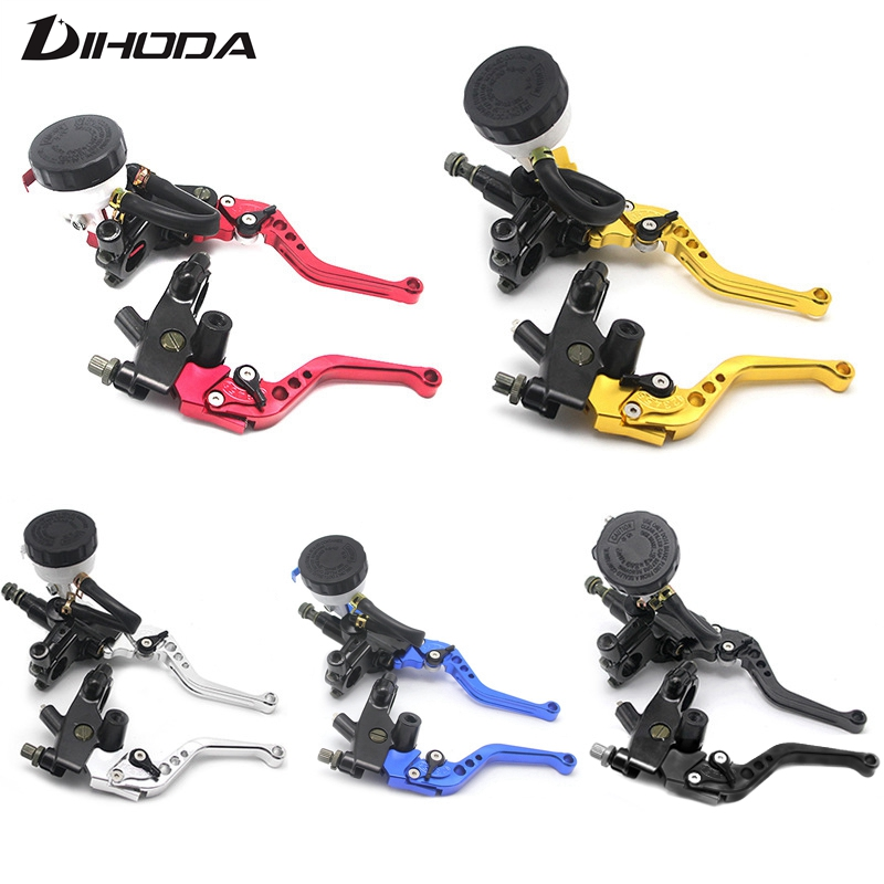 Motorcycle 7/8 22mm Left clutch lever Right Big oil cup hydraulic brake pump master cylinder For Yamaha Honda Kawasaki KTM BWM hot sale motorcycle accessories 7 8 hydraulic levers cnc motocross brake master cylinder lever for ktm 105sx 2009 2010 2011