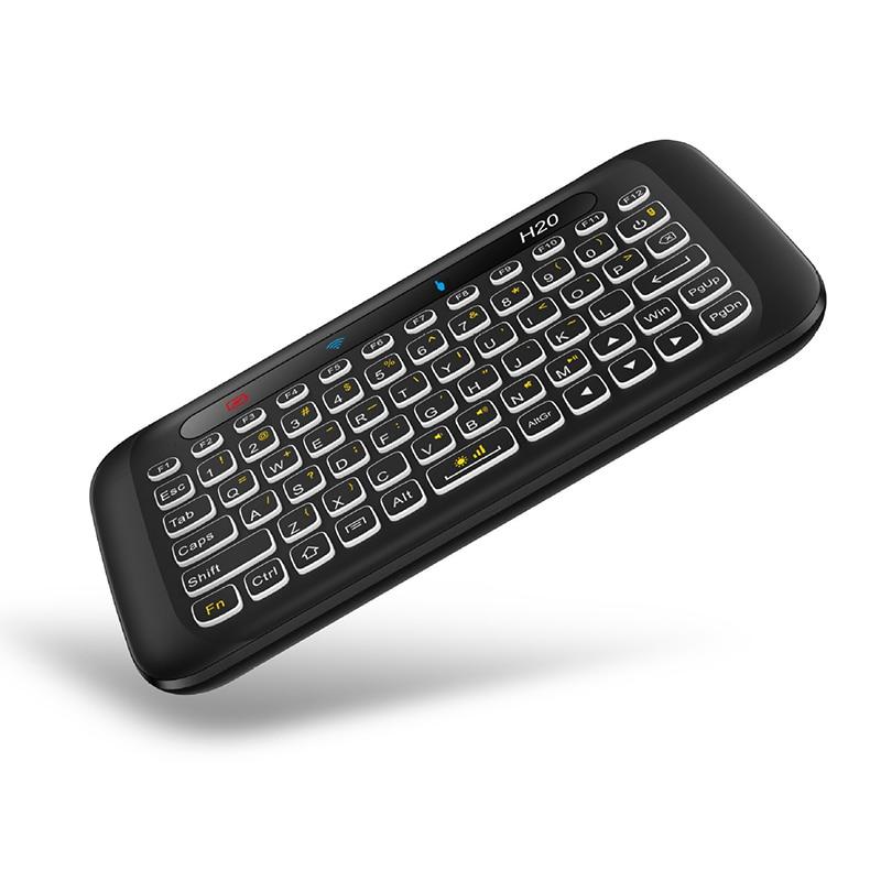 Wireless Keyboard Double-sided Mini 2.4G Full Screen USB Backlight Remote Control QJY99