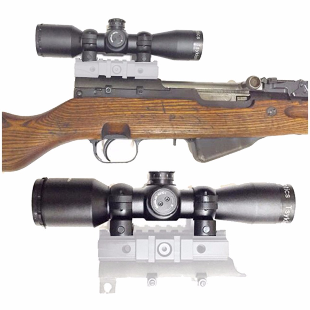 Vector Optics Tsyklon 4x32 SKS Compact Hunting Rifle Scope with 1 inch Mount Ring SVD Reticle Turret Adjust Weapon Sight