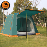 4 6 Person Camel Automatic Quick Open Waterproof Ultralarge Sunscreen Double Layer Camping Tent