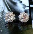 Brincos da orelha anéis de Moda para as mulheres senhora flor do sol strass cystal da Menina desgin pós CN