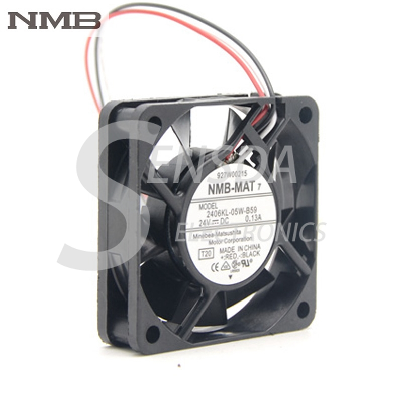 2406KL-05W-B59 NMB Cooling Fan 60x60x15mm DC 24V 0.13A New Good Quality
