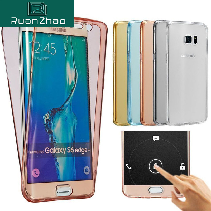 Luxury Soft 360 Degree Full Cover Silicone Case for Samsung Galaxy S8 S9 Plus S7 S6 edge TPU Case S5 J3 J5 J7 2016 A5 A3 A7 2017