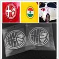 1 unids Alfa Romeo delta verde quatrefoil Side Car Fender Emblema de la Insignia pegatina para 4C 147 156 166 159 tapa del tanque de Araña etiqueta