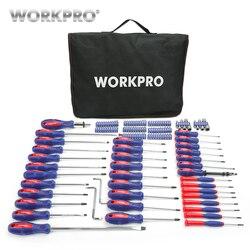 Juego de destornilladores WORKPRO 130 en 1 herramientas de reparación de destornillador multifunción para teléfonos juego de destornilladores de precisión