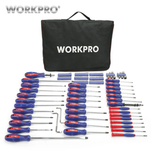 Free Shipping WORKPRO 130-piece Screwdriver With Carrying Bag