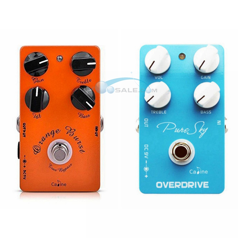 Caline CP 18 Amplifier Overdrive True Bypass Guitar Effect Pedal And CP 12 Pure Sky vintage