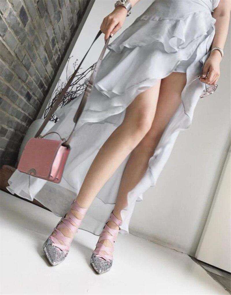 Talons Mujer Pic Zapatos Chaussures Été Glitter Dentelle As Up Lanières Découpes as Femme Femmes Pic Bottes Gladiateur Sandales Sexy Sandalias Pompes OAwFaUq