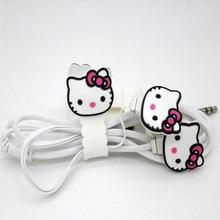 Cheapest Earphones Cute Hello Kitty Micke Earphone Cartoon Headset Sports Portable Earphone For All Phone For Ipod/Mp3/Mp4