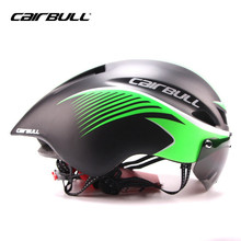 CAIRBULL Triathlon MTB Road Bike Helmet Bicycle Integrally-Molded Aerodynamic Sport Cycling Helmet With Goggles Casco Ciclismo