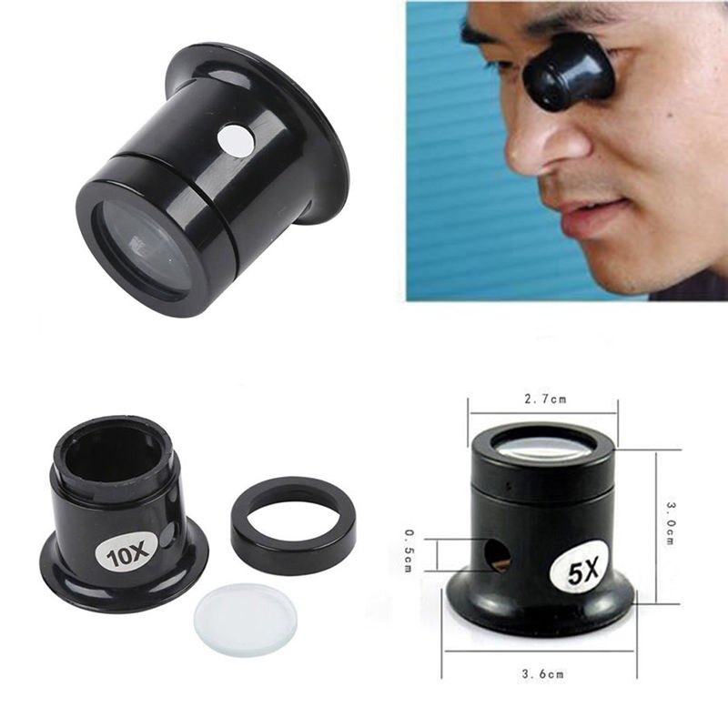 1PC 10X Watch Jewellery Magnifier Loupe Eye Len Eyepiece Repair Kit Tool Free Shipping