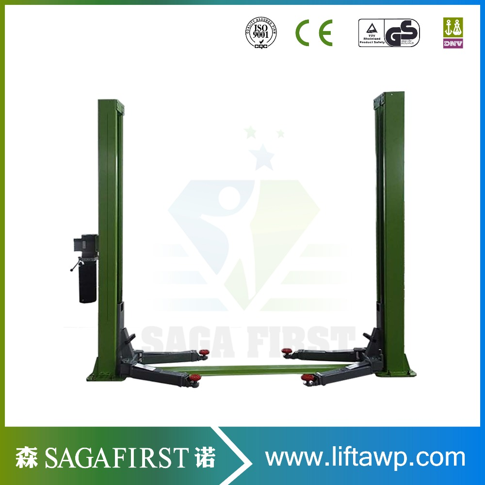 Hydraulic Two Post Clear Floor Car Lift For Car Wash