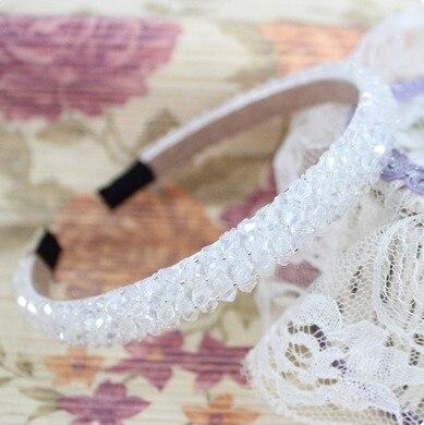 Сияющий кристалл модный современный стиль повязки на голову для девушек головные уборы аксессуары для волос для женщин - Цвет: 4 Row Crystal