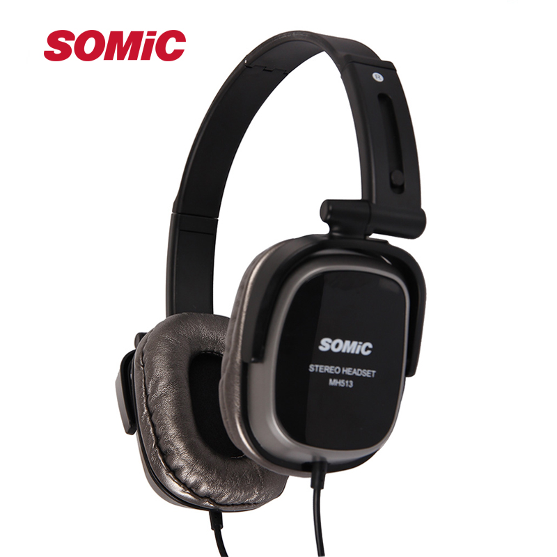 Somic MH513 Mini Portable Collapsible Headband Headset Wired Headphones
