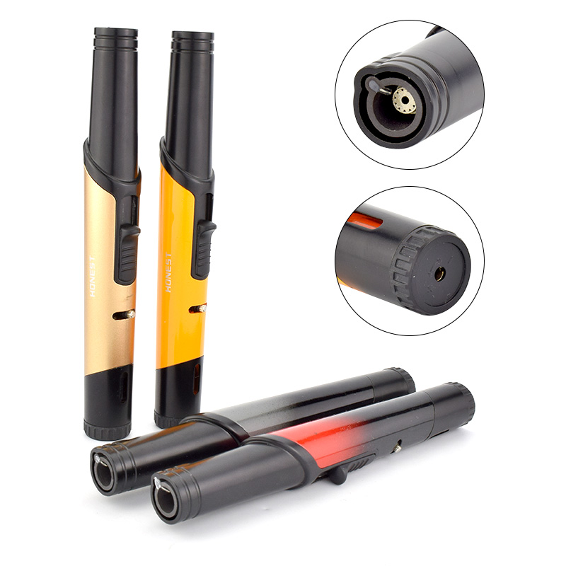 Honest Lighter Butane Gas Jet Lighter One Torch Jet Flame Lighter Indoor Outdoor Camping Tool No Gas