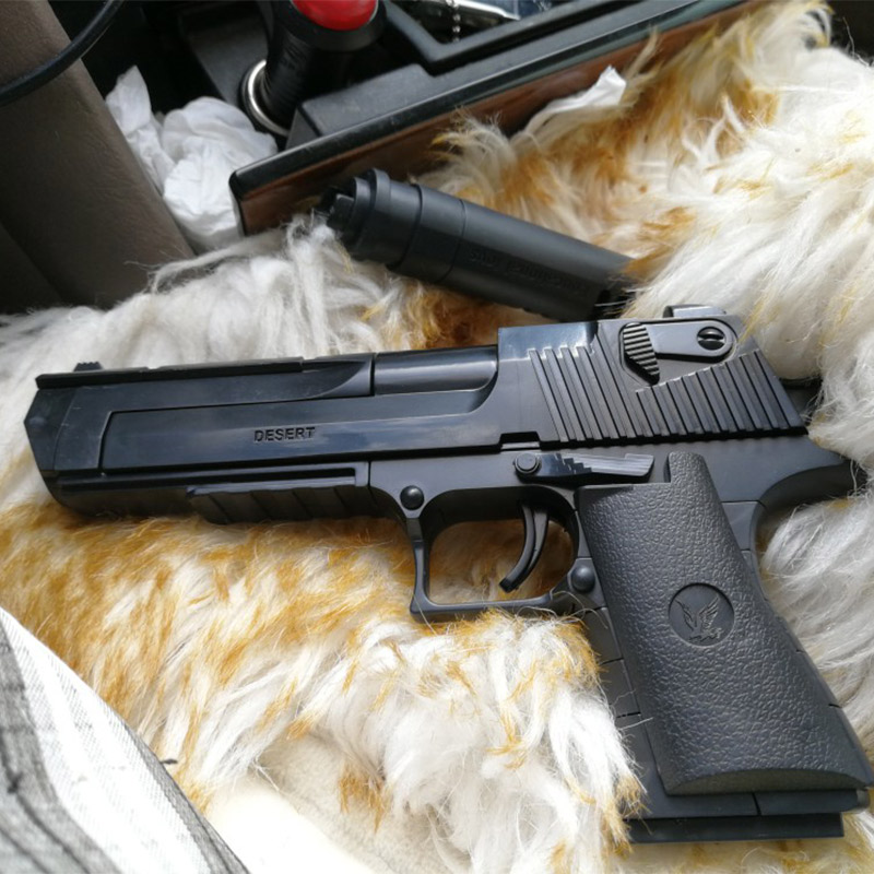New DIY Military Gun Handgun Pistol Desert Eagle Collection Model 45pcs Building Blocks Toys For Kids Boys Gifts Not Weapon