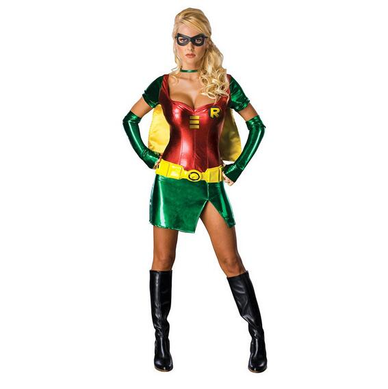 Halloween Costume for Women Sexy Robin Super Hero Anime Cosplay Carnival Party Fantasias Feminina Para Festa C49137