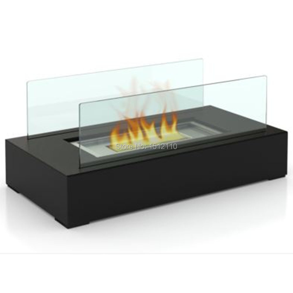 Metal Glass Crafts Bio Ethanol Table Top Fireplace For Indoor And Outdoor Use Home Decoration KW2300