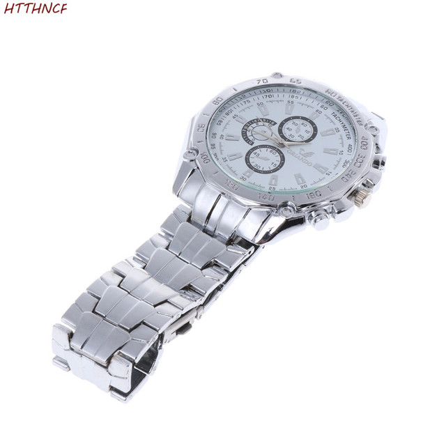 HTTHNCF Luxury Fashion Mens Stainless Steel Quartz Analog Hand Sport Wrist Watch 3Colors
