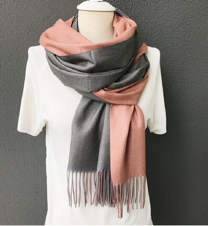 scarf   winter for women luxury brand poncho shawls pashmina double-side soft cashmere   scarves   shawls and   wraps   bandanascarf winte