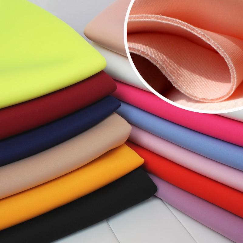 Sandwich Tissu Spandex Tricoté Tissu Tissu De Couche D'air Espace Coton Jupe Veste De Baseball 60 de large Vendu Par Le cour