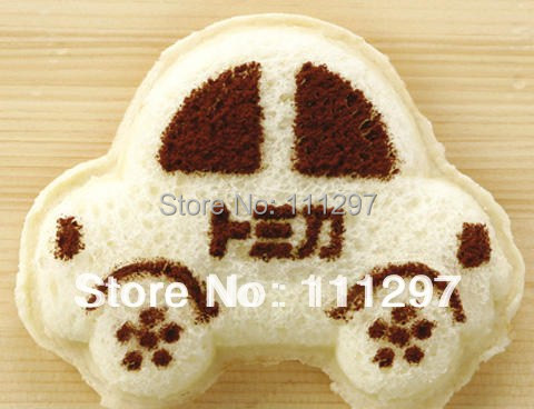 Wholesale 300pcs / lot plastic bread toast cutter sandwich cutter picnic lunch mold maker in car design Free shipping