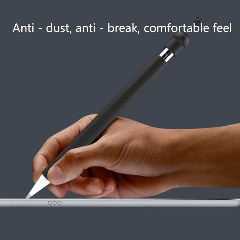 Protective Cover Tablet Touch Pen Stylus Soft Silicone Case Anti-Lost Cap Anti-Slip For Apple Pencil 1st Generation