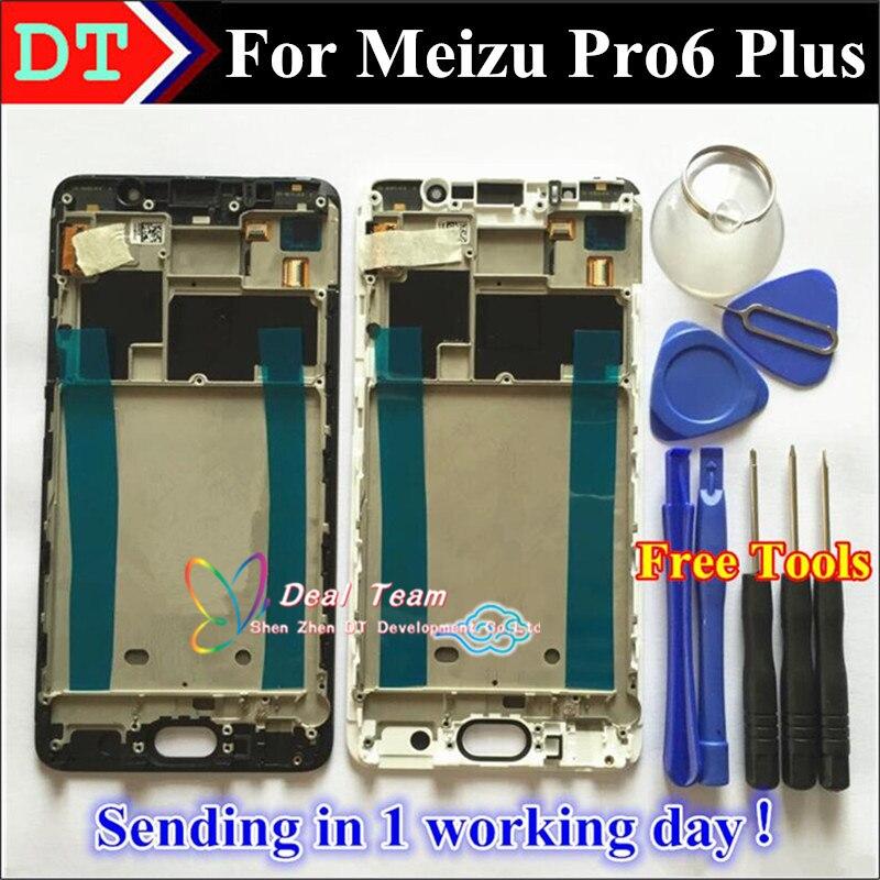 imágenes para Alta Calidad Nueva Pantalla LCD + Asamblea de Pantalla Táctil Digitalizador Para meizu pro6, más móvil meizu pro 6 negro con marco Plus