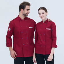 New Long-Sleeved Chef Clothing Men