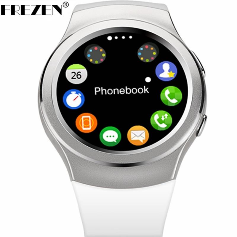imágenes para FREZEN 100% Original G3 IPS Pantalla Bluetooth Reloj Inteligente MTK2502c SIM la tarjeta de Escuchar Monitor del Ritmo cardíaco del Reloj Para IOS Android PK KW18 LF18