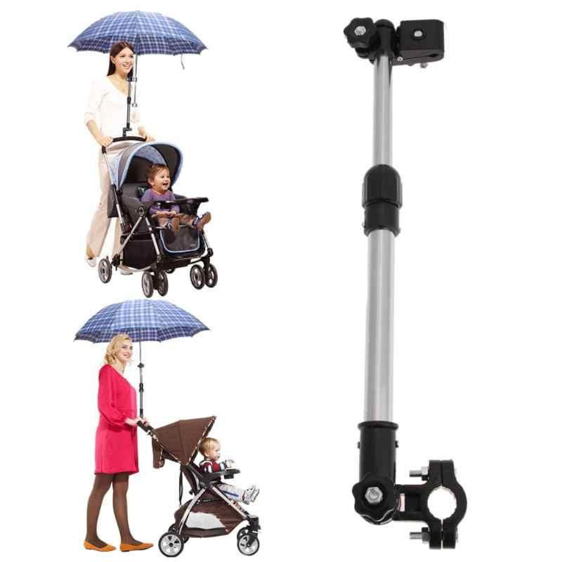Adjustable Baby Stroller Umbrella Holder Baby Car Umbrella Stretch Stand Holder Stroller Accessories Bicycle Umbrella Bracket