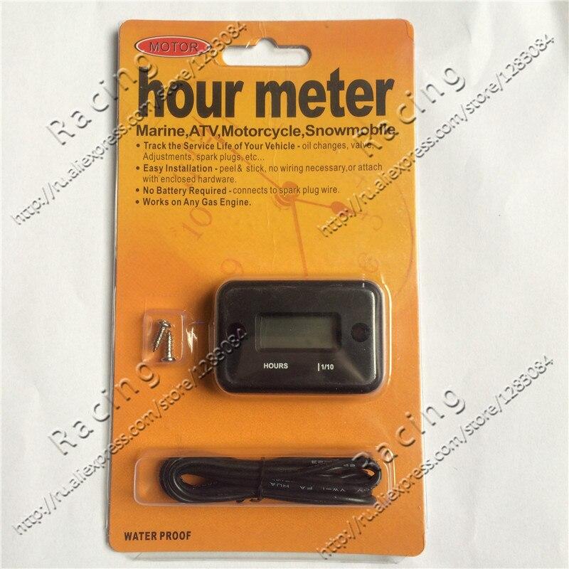 frete gratis digital indutivo hour meter temporizador a prova d agua usado para pit dirt bike