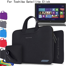 For Toshiba Satellite tv for pc Click on 2 / Click on 2 Professional 13.Three-inch Laptop computer Four-in-1 Neoprene Pores and skin Sleeve Carrying Case Briefcase Bag Pouch Cowl