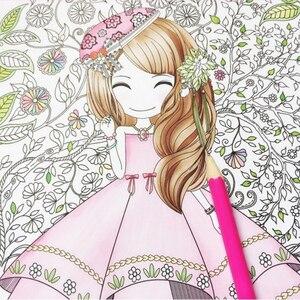 Image 1 - Fleur fille secret jardin coloriage livre style ancien peinture livre enfants coloriage graffiti livre photo