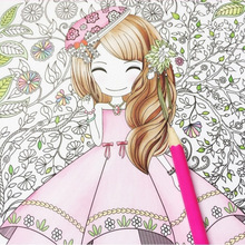 Flower girl secret garden coloring book ancient style painting book children coloring graffiti picture book все цены