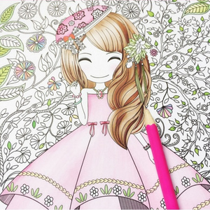 Image 1 - Flower girl secret garden coloring book ancient style painting book children coloring graffiti picture book