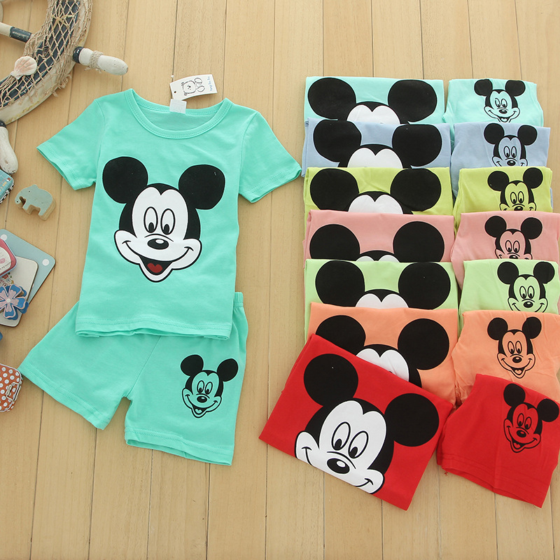 Mickey Baby Girls Clothing Sets For Children Clothing Sets 2019 Summer Cartoon Boys Clothing Suits Casual Set