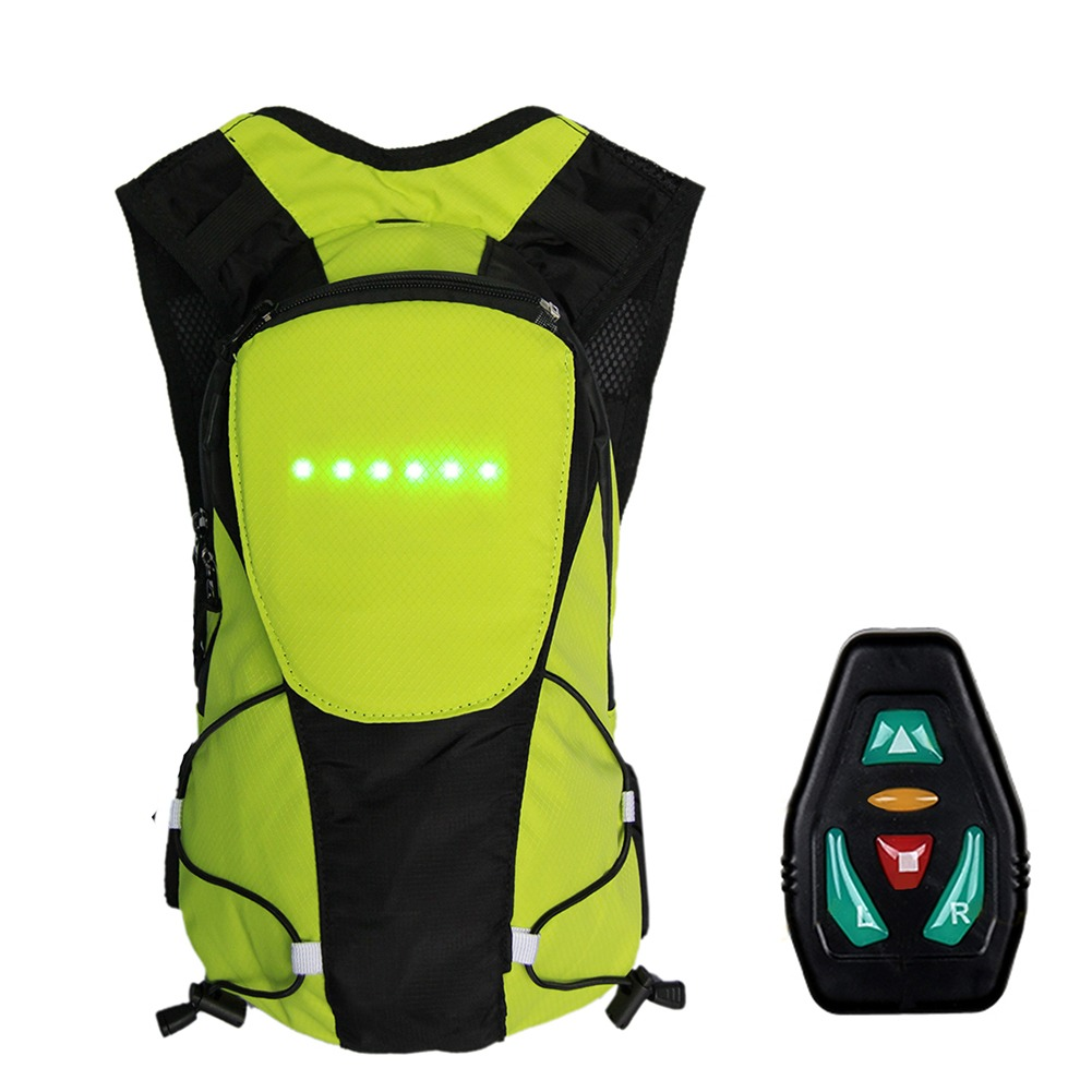 Lixada Bicycle Bag Usb Reflective Vest With Led Turn Signal Light Remote Control Sport Safety Bag Gear For Cycling Jogging Convenience Goods Bicycle Accessories Bicycle Bags & Panniers