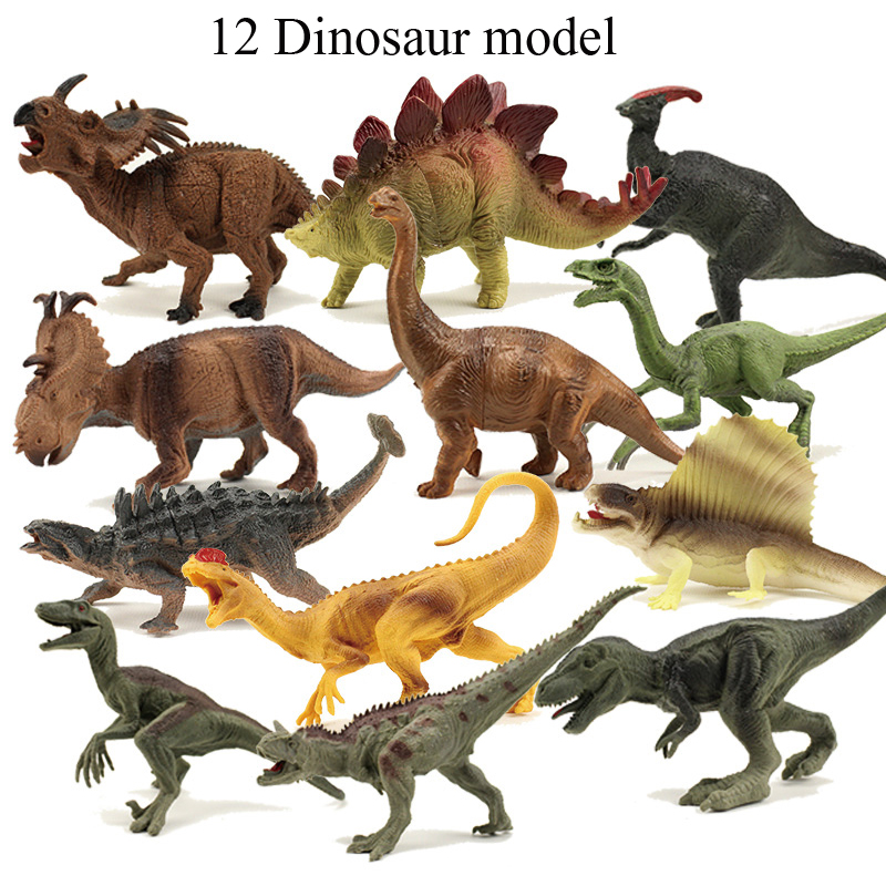 лучшая цена 6pcs/set Jurassic Simulation Dinosaurs Party Animal Models Plastic Children Wildlife Toys Action Figure Toys Kids Gift Toy