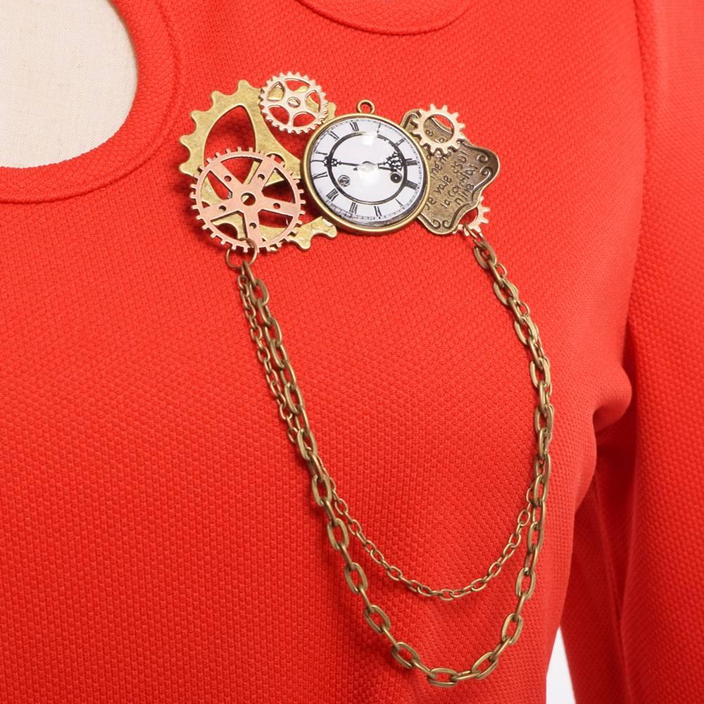 Steampunk Brosche Pest Vogel Brust Pin cosplay accessories ...
