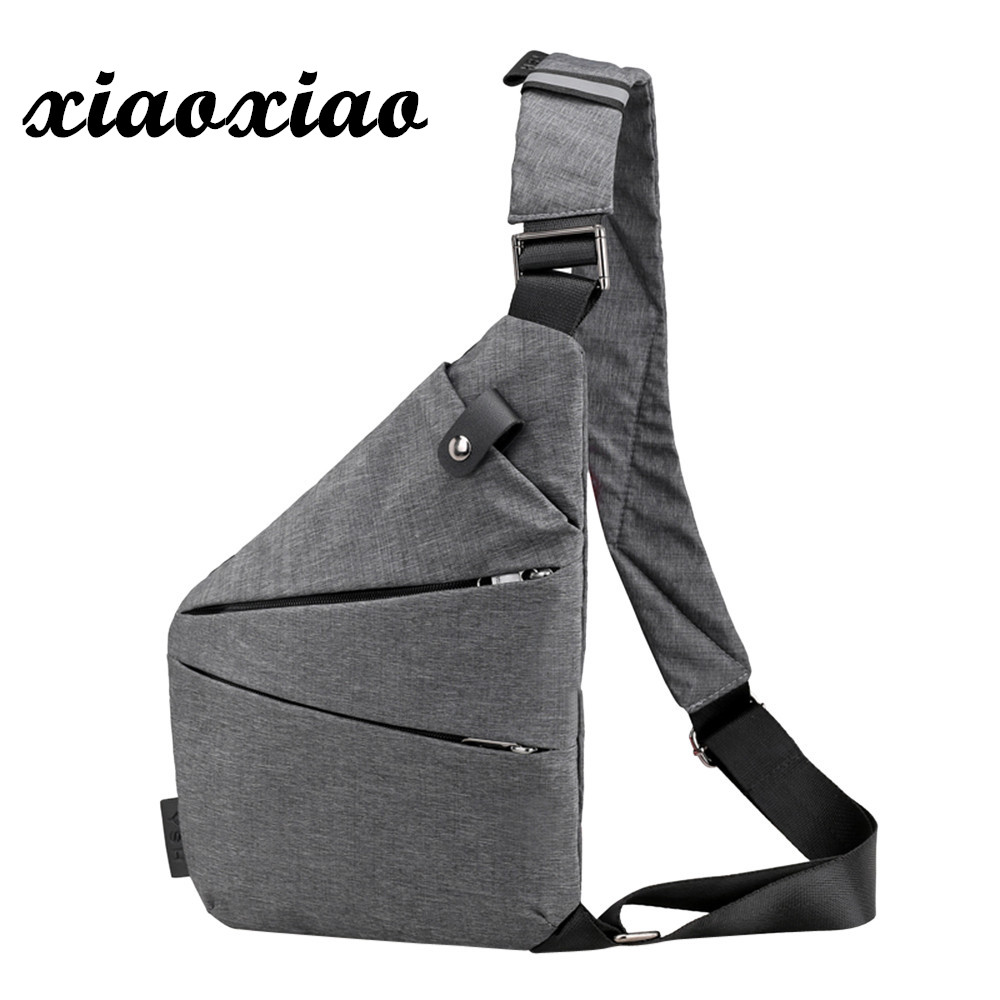 5e3bc961a570 Fashion Chest Bag Men Women Sling Bag Casual Canvas Chest Anti Theft Crossbody  Bags High Quality