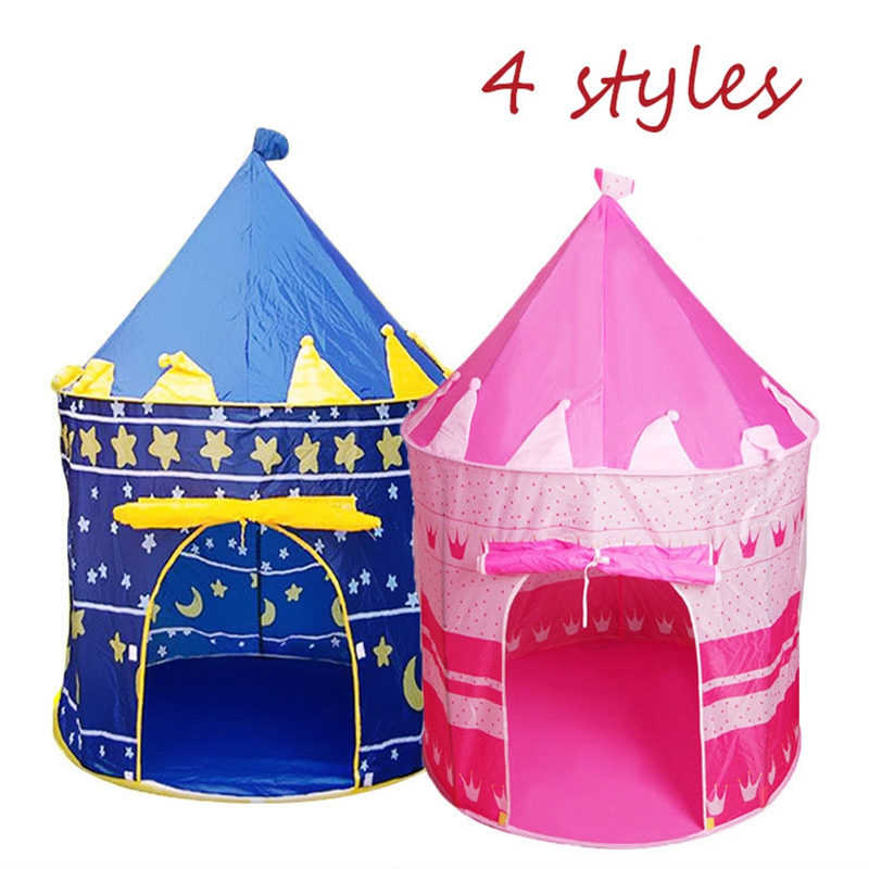 Castle 4 Colors Prince Folding Outdoor Toy Tent Kids Children Cubby Play House For Kids Best