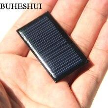 BUHESHUI 5V 25mA Mini Solar Cell Small Power Solar Panel For 3.7V Battery Charger DIY Solar Toy Panel LED  45X25mm Epoxy 10PCS